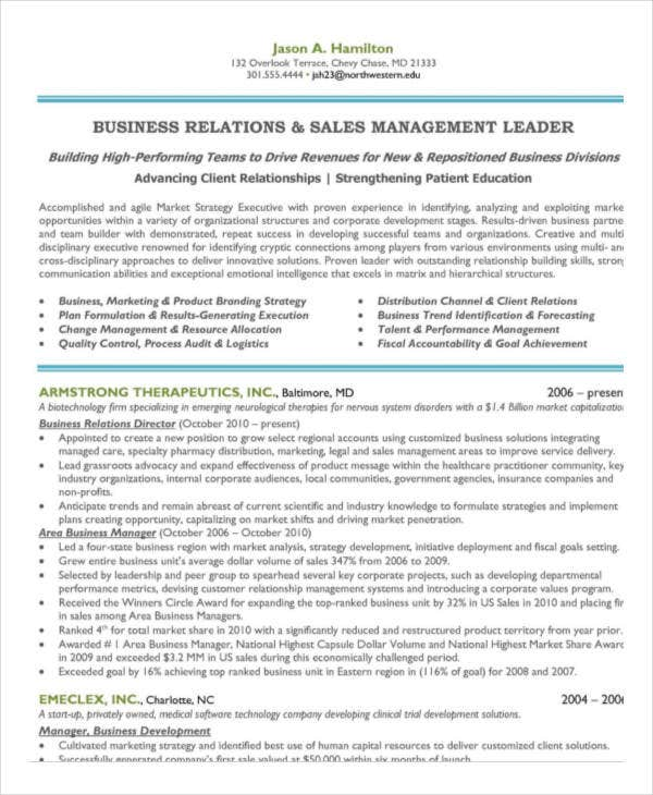 sales and marketing manager resume4