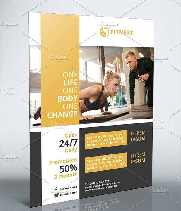 Fitness Center Marketing Flyer