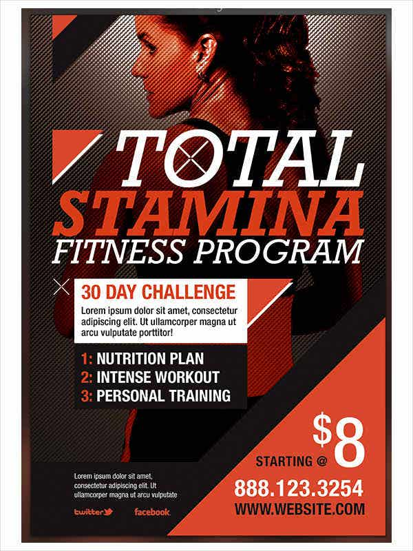 Fitness Program Work Out Flyer