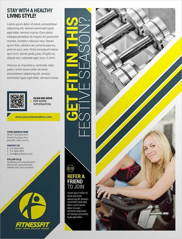 Fitness Equipment Training Flyer