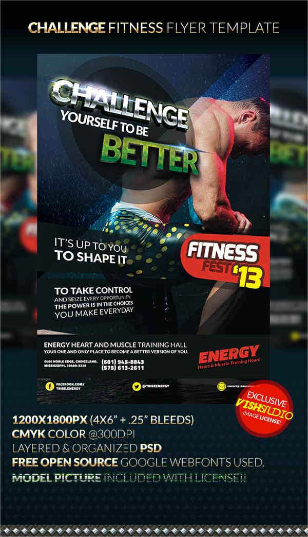 Fitness Daily Challenge Flyer