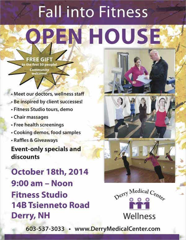 Printable Fitness Open House Flyer