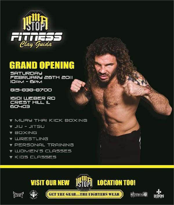 Printable Fitness Grand Opening Flyer