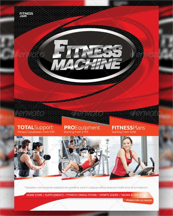 Printable Multipurpose Fitness Flyer