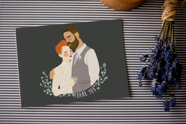 free wedding thank you card
