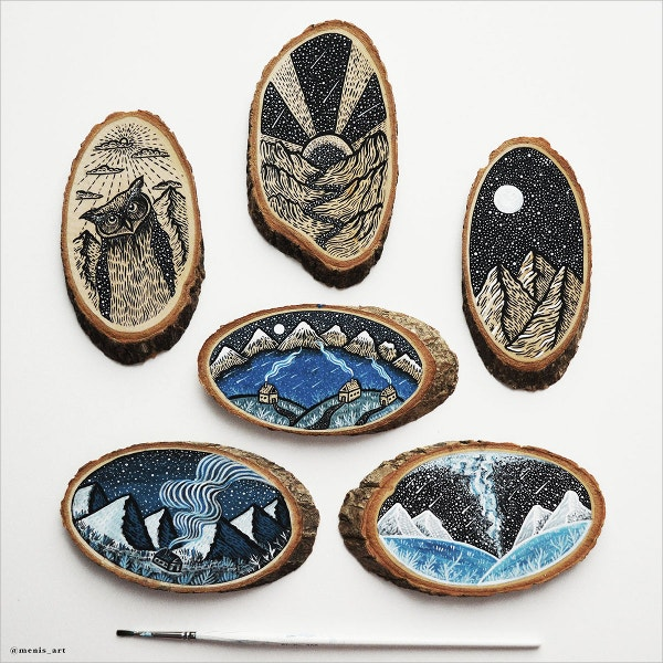 wood cut illuatrstions