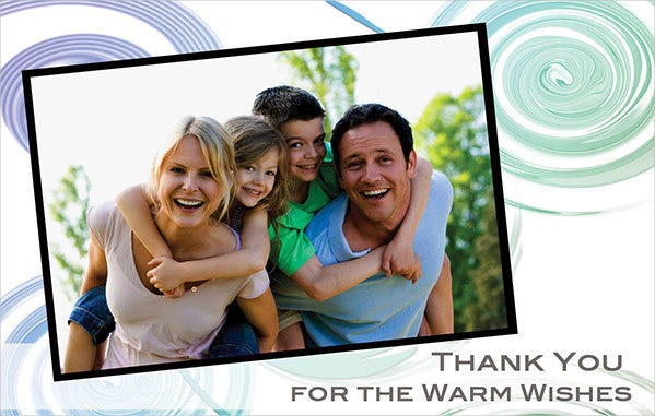 free photo thank you card