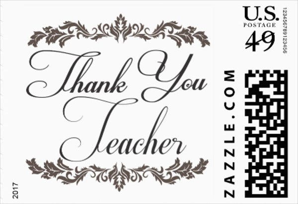 thank you appreciation card for teacher