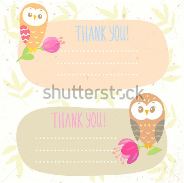 childrens place thank you card