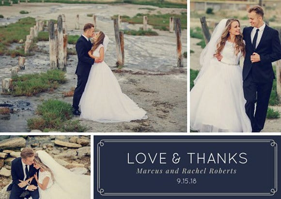 beach wedding thank you card2