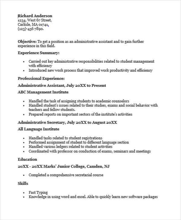 education administrative assistant resume1