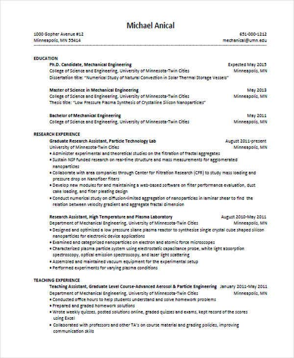 college graduate education resume1