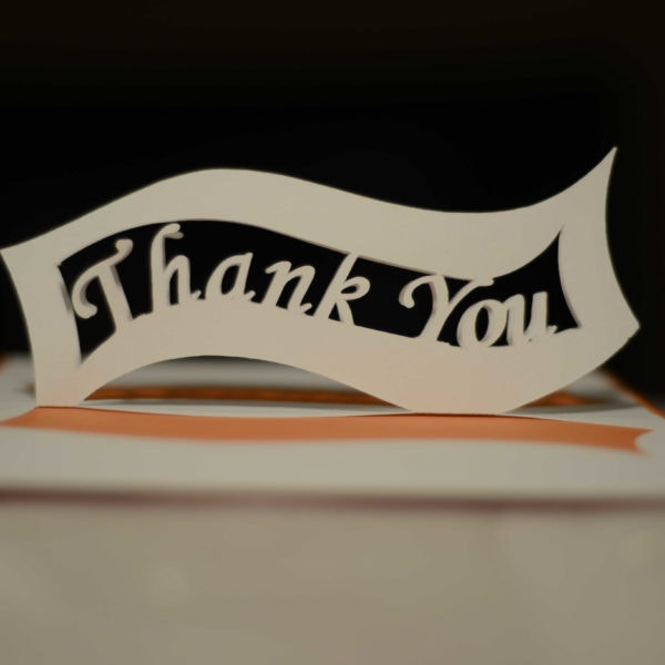 printable thank you pop up card