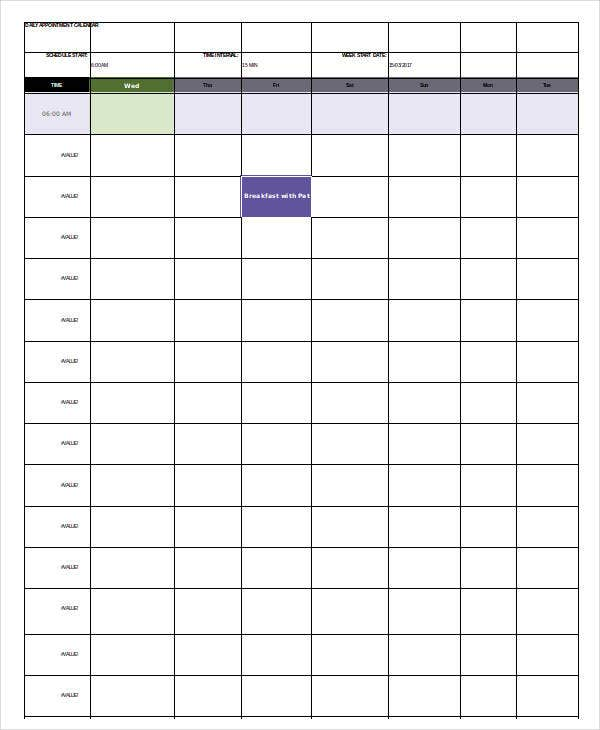 graphic about Daily Calendar Template named Everyday Calendar Template - 4+ Totally free Phrase, PDF Information
