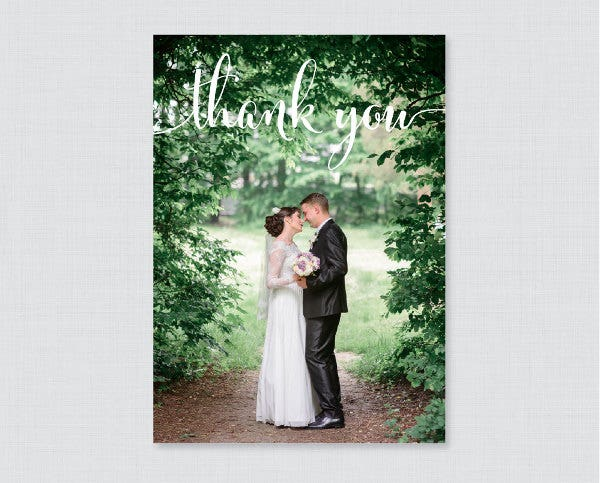 printable photo thank you card