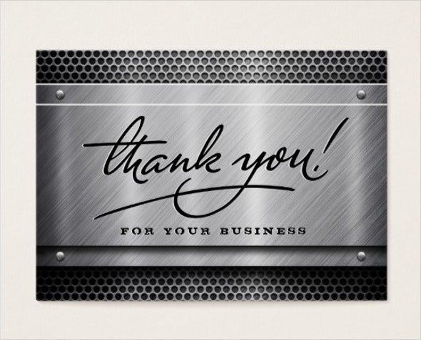 professional business thank you card1