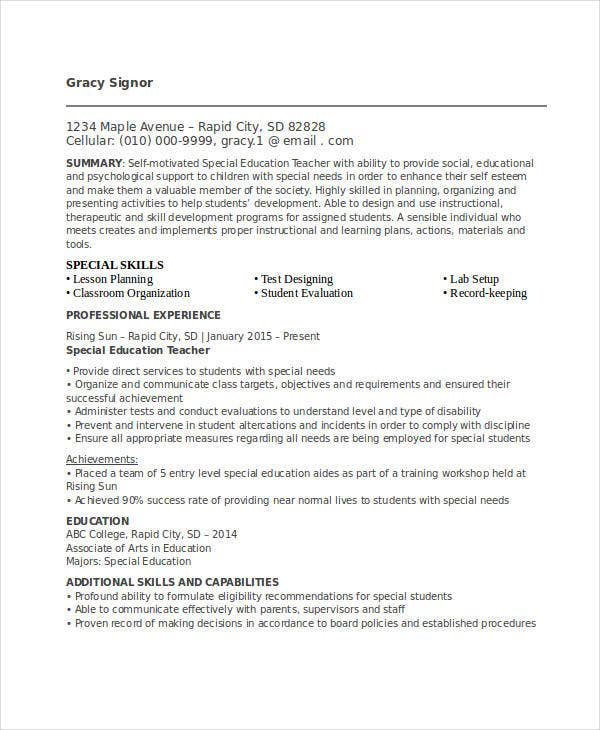 15 Best Education Resume Templates Pdf Doc Free