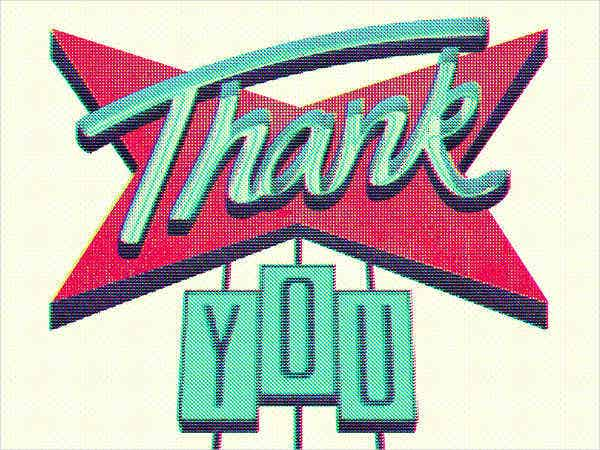 free vintage thank you card