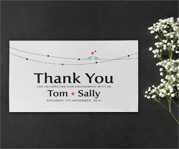 diy engagement thank you card - Engagement Thank You Cards