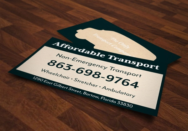 affordable transport business card