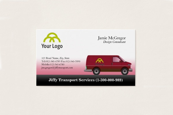 transportation-red-van-business-card
