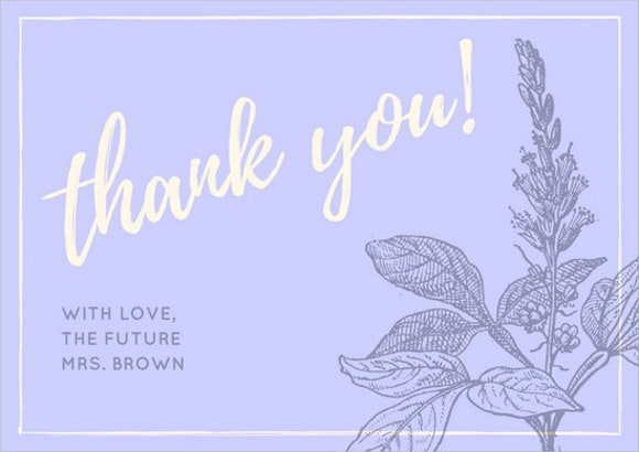 sample bridal shower thank you card