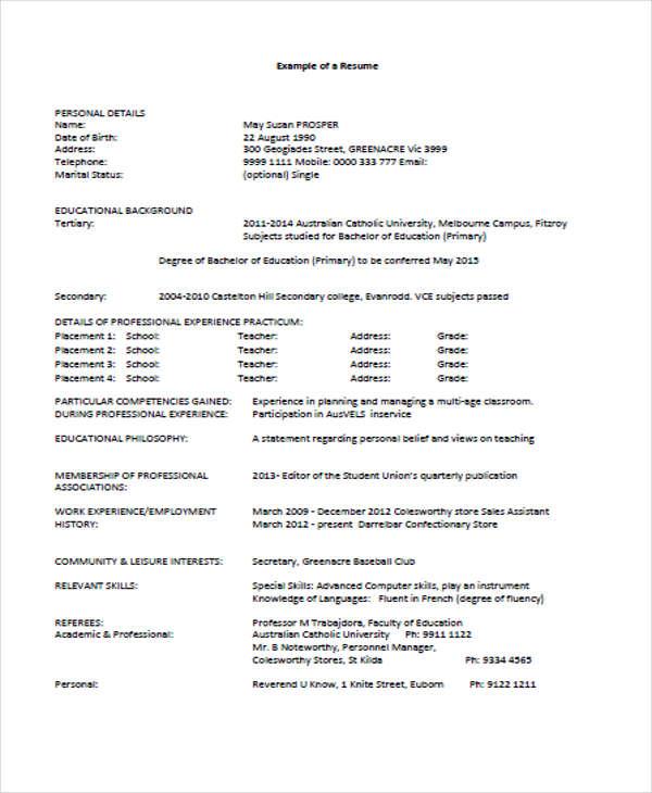 24  education resume templates