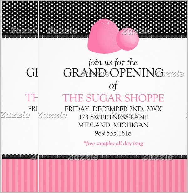 sample business grand opening flyer