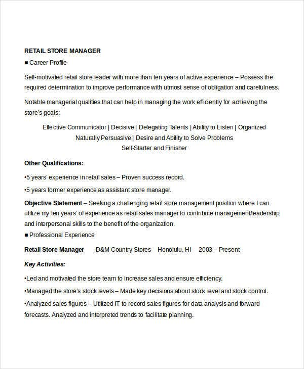 retail store manager resume4