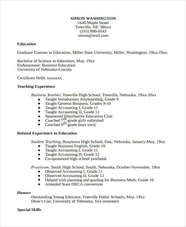 business education teacher resume2