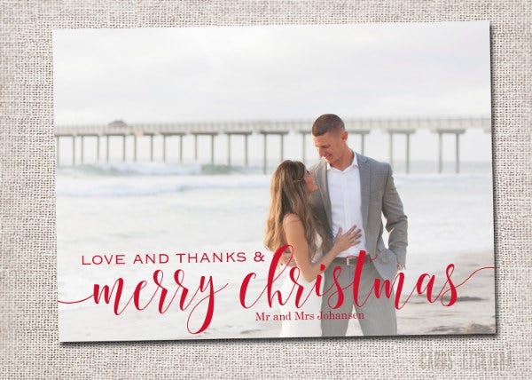 Holiday Wedding Thank You Card