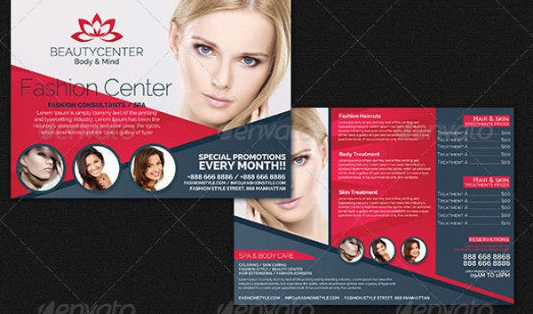 beauty spa business services flyer