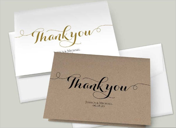 diy rustic thank you card
