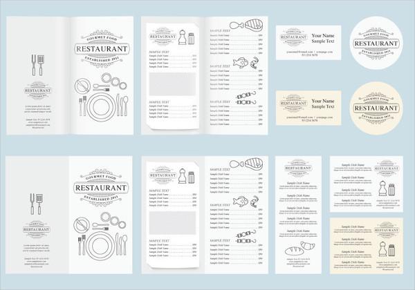 food and beverage menu design