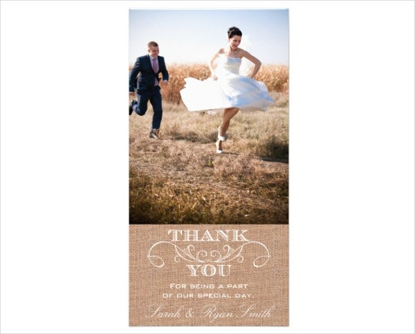 rustic photo thank you card1