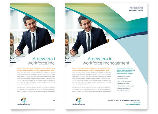 corporate business training flyer