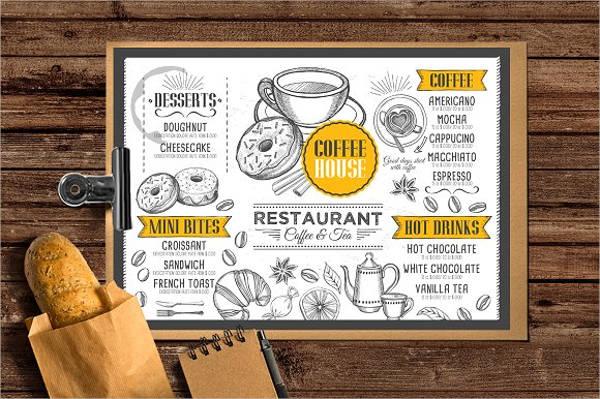 tea party menu flyer design