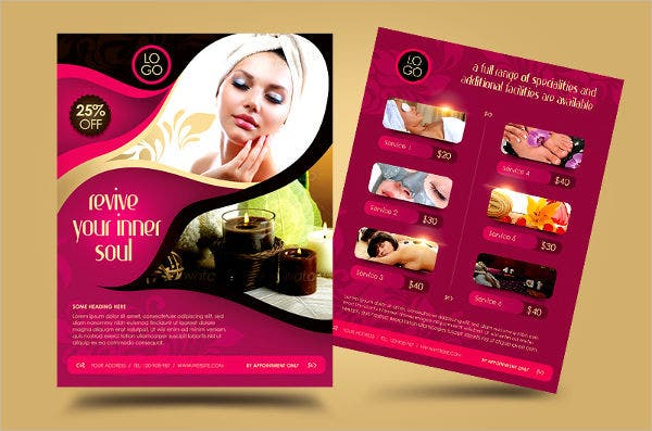 deluxe spa business promotion flyer2