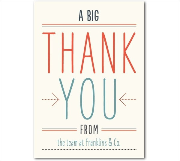 sample office thank you card