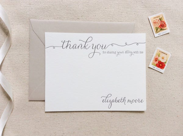 office thank you note card