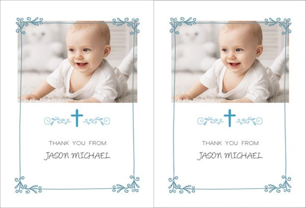printable baptism thank you card