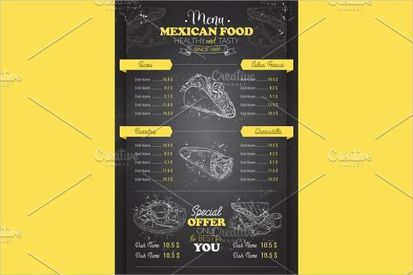 menu board layout design