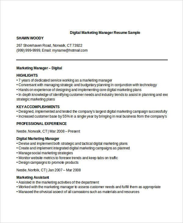 digital marketing manager resume1