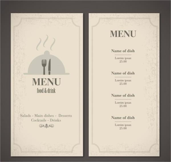 42  vintage menu designs