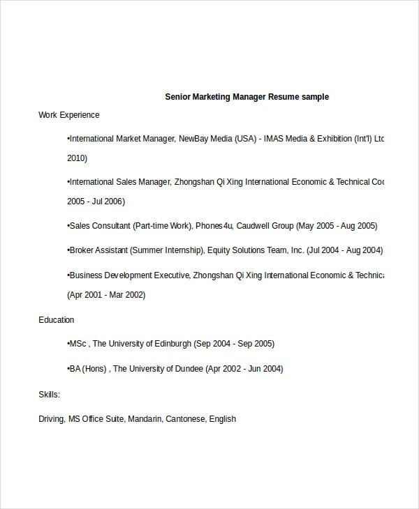 senior marketing manager resume2