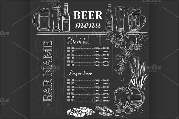 chalkboard beer menu design
