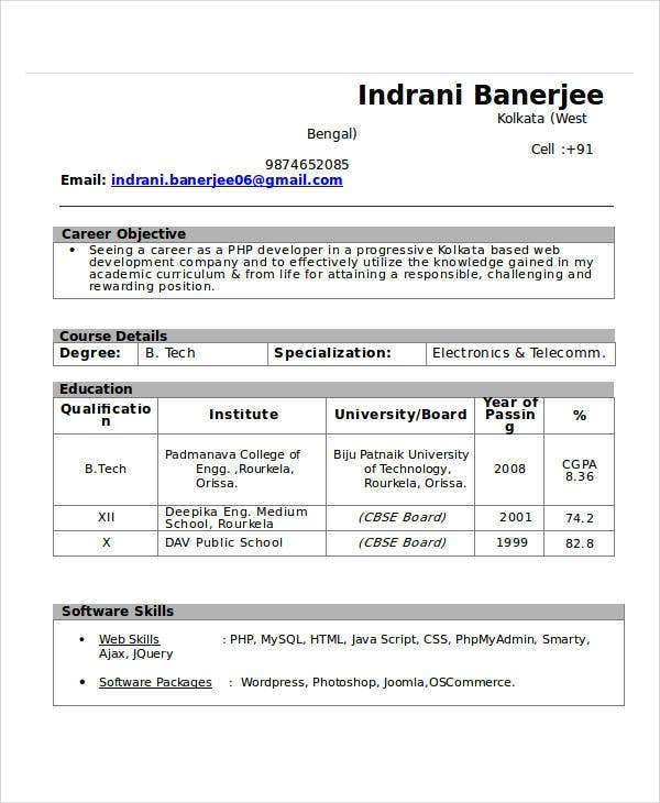 engineering fresher resume format2