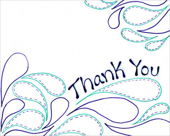 sample diy thank you card