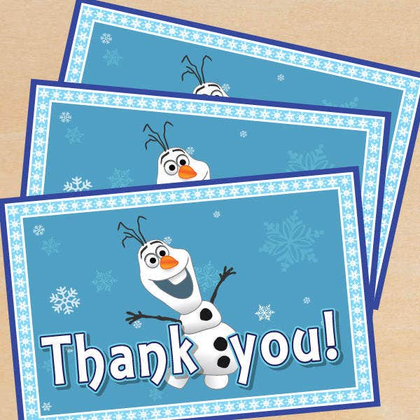 free frozen thank you card