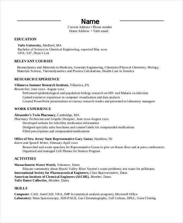 engineering job resume example1